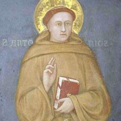 Sant'Antonio benedicente con libro, Scuola giottesca, 1326
