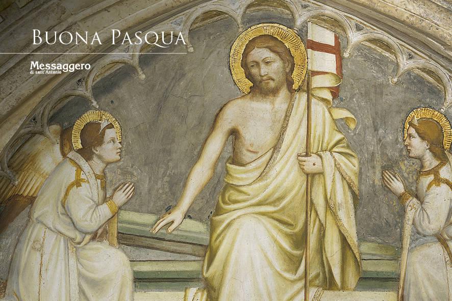 Resurrezione di Cristo - Biglietto di auguri di Buona Pasqua del Messaggero di sant'Antonio