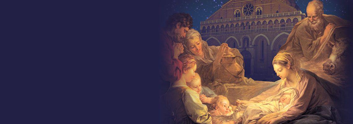 <br><br>Tutte le celebrazioni e gli eventi<br>in Basilica da Natale all'Epifania<br>