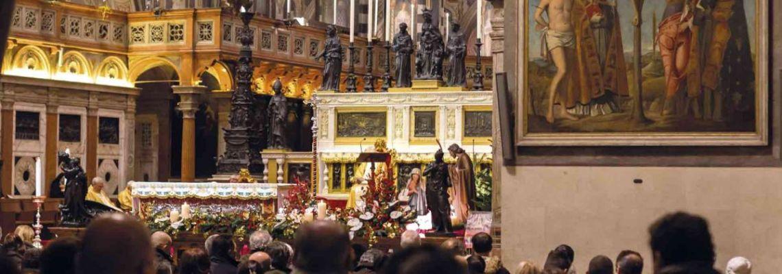 Le programme des messes<br>célébrées sur le maître-autel de la Basilique<br>qui seront transmises en streaming