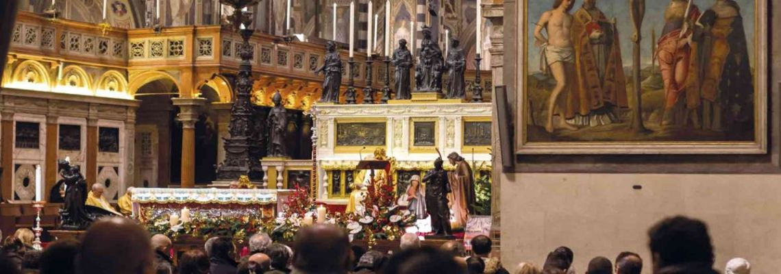Follow the live streaming<br>of the celebrations from the High Altar<br>of the Basilica of Saint Anthony in Padua