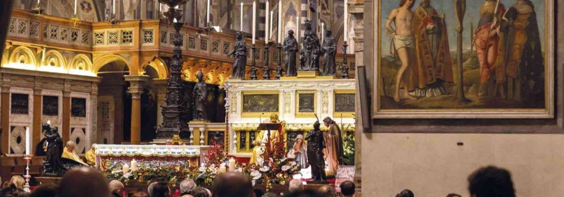 Das Programm der Heiligen Messen<br>vom Hochaltar der Antonius-Basilika aus<br> im Live Streaming über das Internet